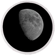 Round Beach Towel featuring the photograph Moon 67 Percent Fr23 by Mark Myhaver