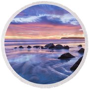 Moon Above Round Beach Towel