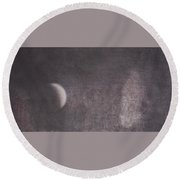 Moon And Friends Round Beach Towel