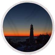 Moon And Venus - Headlight Sunrise Round Beach Towel