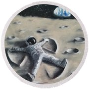 Moon Angel Round Beach Towel