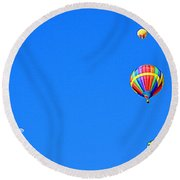 Round Beach Towel featuring the photograph Moon At 8 Oclock by AJ Schibig
