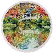 Moon Bridge Round Beach Towel