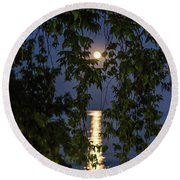 Moon Curtain Round Beach Towel