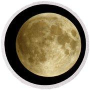 Moon During Eclipse Round Beach Towel