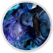 Moon Eater Dragon Lunar Eclipse Round Beach Towel