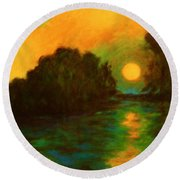 Moon Glow Round Beach Towel