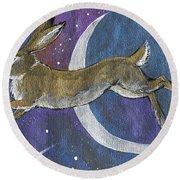Moon Hare 2018 08 01 Round Beach Towel