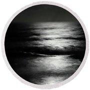 Moon Light Round Beach Towel