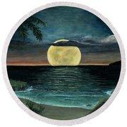 Moon Of My Dreams IIi Round Beach Towel
