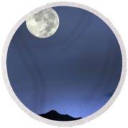 Moon Over Ko'olau Round Beach Towel