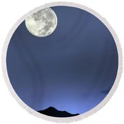 Moon Over Ko'olau Round Beach Towel