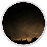 Round Beach Towel featuring the photograph Moon Rise by Katie Wing Vigil