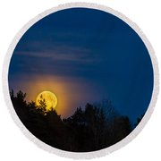 Moon Rise Round Beach Towel by Torbjorn Swenelius