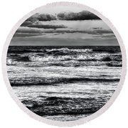 Moon Rising  Round Beach Towel