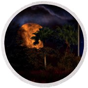 Round Beach Towel featuring the photograph Moon River by Mark Andrew Thomas