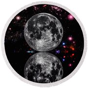 Moon River Round Beach Towel by Naomi Burgess
