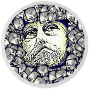 Moon Rocks Round Beach Towel