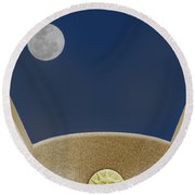 Moon Roof Round Beach Towel