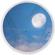 Moon Set Round Beach Towel