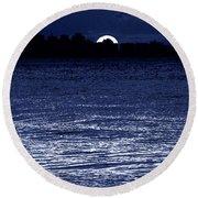Moon Shine Round Beach Towel