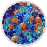 Moon Snails Back To School Round Beach Towel