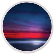 Moon Tide Round Beach Towel by Mark Andrew Thomas