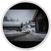 Round Beach Towel featuring the photograph Moon Walk- by JD Mims