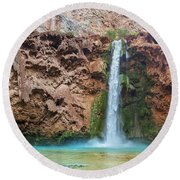 Mooney Falls Grand Canyon Round Beach Towel