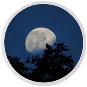 Moonfall Round Beach Towel