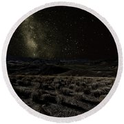 Moonlight And The Milky Way Round Beach Towel
