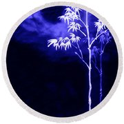 Round Beach Towel featuring the painting Moonlight Bamboo by Lanjee Chee