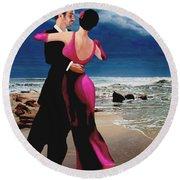 Moonlight Dance Round Beach Towel