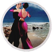 Moonlight Dance Round Beach Towel