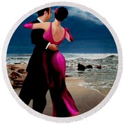 Moonlight Dance V2 Round Beach Towel by Ron Chambers