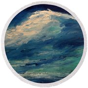 Round Beach Towel featuring the painting Moonlight by Fred Wilson