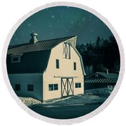 Round Beach Towel featuring the photograph Moonlight In Vermont by Edward Fielding