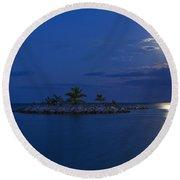 Moonlight Island Round Beach Towel