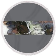 Round Beach Towel featuring the painting Moonlight Music by Lisa Kaiser