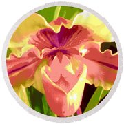 Moonlight Orchid Round Beach Towel
