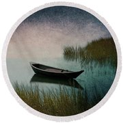 Moonlight Paddle Round Beach Towel by Brooke T Ryan