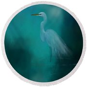 Round Beach Towel featuring the photograph Moonlight Serenade by Marvin Spates