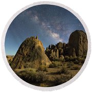 Moonlight Serenade Round Beach Towel
