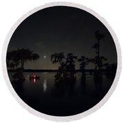 Moonlight Shadow Round Beach Towel