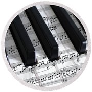 Moonlight Sonata Round Beach Towel by Iryna Goodall