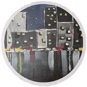 Moonlighters Round Beach Towel