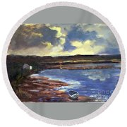 Moonlit Beach Round Beach Towel