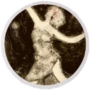Moonlit Dancer Round Beach Towel