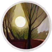 Moonlit Dream Round Beach Towel by Donald Maier
