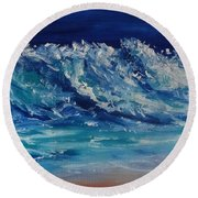 Moonlit Round Beach Towel by Fred Wilson